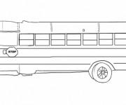 Coloriage et dessins gratuit School Bus classique en jaune à imprimer