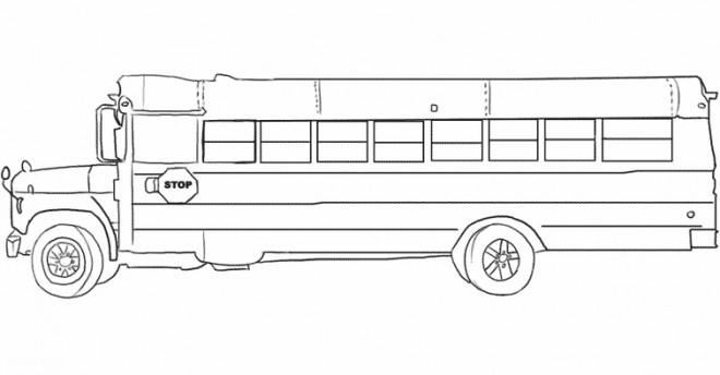Coloriage et dessins gratuits School Bus classique en jaune à imprimer