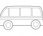 Coloriage et dessins gratuit Un Minibus à imprimer