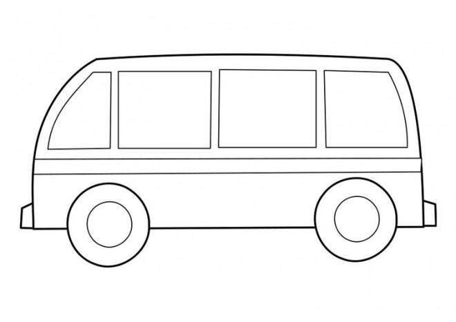 Coloriage Un Minibus Dessin Gratuit à Imprimer