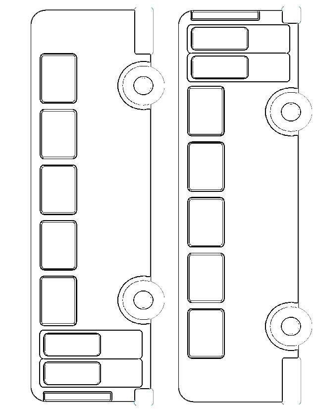 Coloriage et dessins gratuits Autobus à découper à imprimer