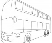 Coloriage et dessins gratuit Autobus anglais couleur à imprimer