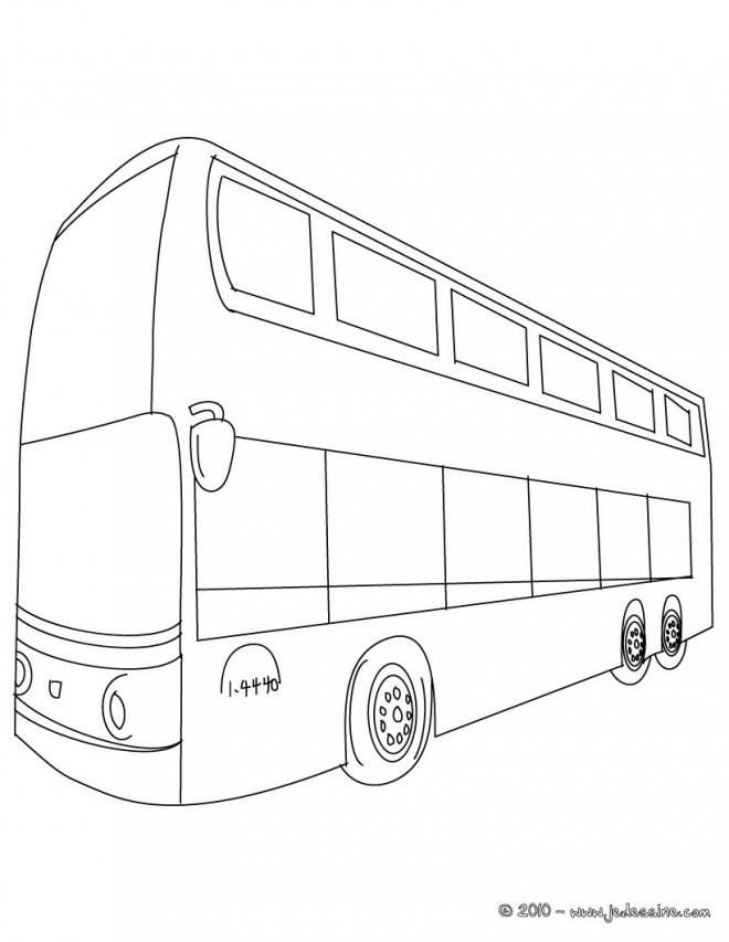 Coloriage Autobus Anglais Couleur Dessin Gratuit A Imprimer