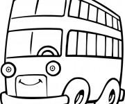 Coloriage et dessins gratuit Autobus avec des yeux à imprimer