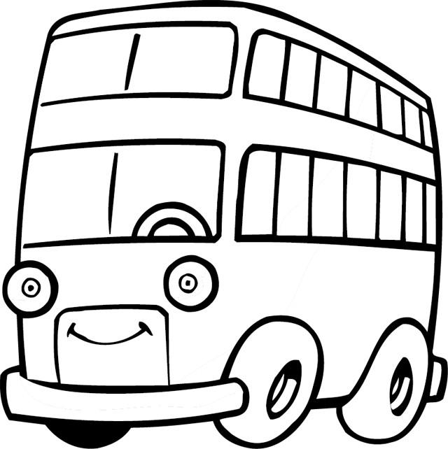 Coloriage et dessins gratuits Autobus avec des yeux à imprimer