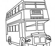 Coloriage Bus à Deux étages Dessin Gratuit à Imprimer