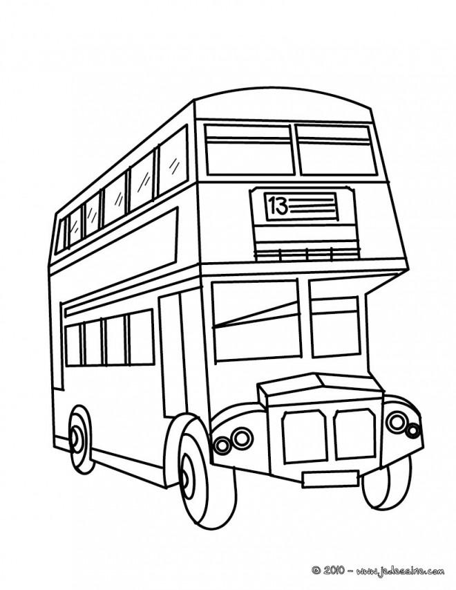 Coloriage Autobus De Londre En Ligne Dessin Gratuit à Imprimer