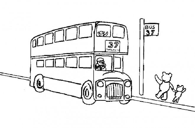 Coloriage et dessins gratuits Autobus pour enfant à imprimer