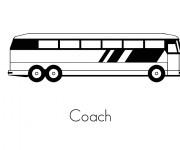 Coloriage et dessins gratuit Autobus pour transport publique à imprimer