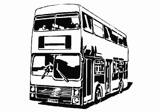 Coloriage et dessins gratuits Autocar à télécharger à imprimer