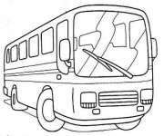 Coloriage et dessins gratuit Autocar maternelle à imprimer