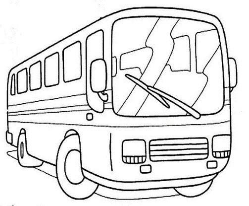 Coloriage et dessins gratuits Autocar maternelle à imprimer