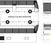 Coloriage et dessins gratuit Bus à découper et assembler à imprimer