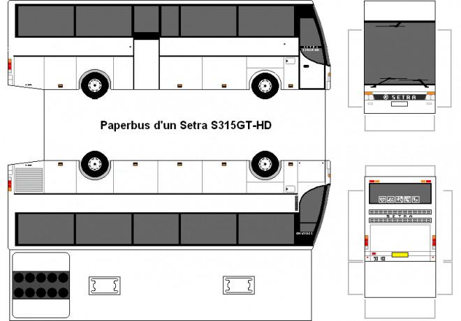 Coloriage et dessins gratuits Bus à découper et assembler à imprimer