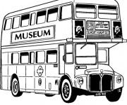 Coloriage et dessins gratuit Bus à deux étages à imprimer
