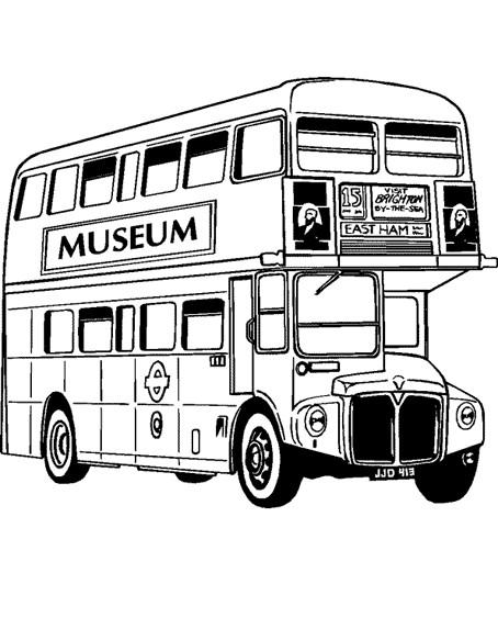Coloriage et dessins gratuits Bus à deux étages à imprimer