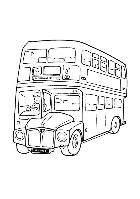 Coloriage Bus à Londres Dessin Gratuit à Imprimer