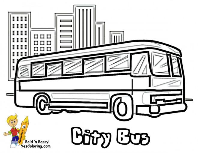 Coloriage et dessins gratuits Bus de la Cité à imprimer