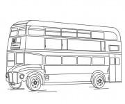 Coloriage et dessins gratuit Bus en angleterre à imprimer
