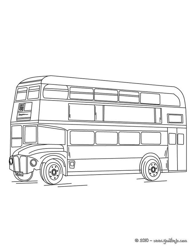 Coloriage Bus En Angleterre Dessin Gratuit A Imprimer