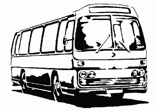 Coloriage bus en noir et blanc dessin gratuit imprimer - Autobus scolaire dessin ...