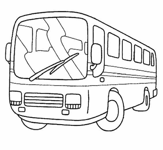 Coloriage Bus Facile Maternelle Dessin Gratuit à Imprimer