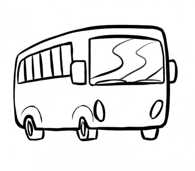 Coloriage Bus Scolaire Dessin Gratuit à Imprimer