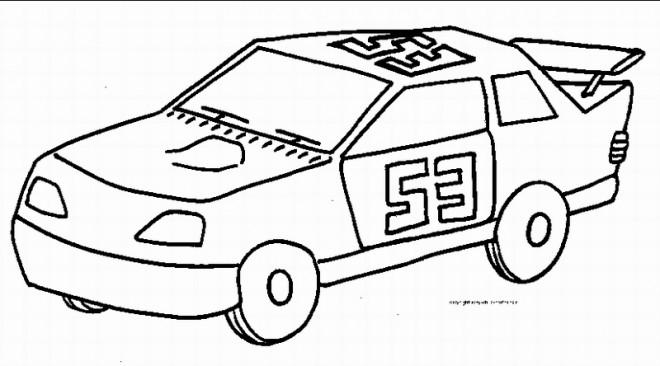 Coloriage et dessins gratuits Auto de course à imprimer