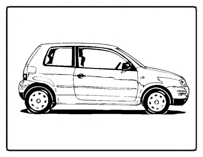 Coloriage et dessins gratuits Automobile à deux portes à imprimer