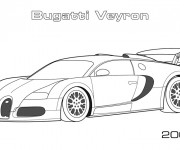 Coloriage Automobile Bugatti Veyron