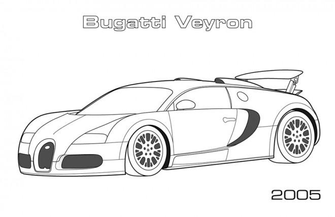 Coloriage et dessins gratuits Automobile Bugatti Veyron à imprimer