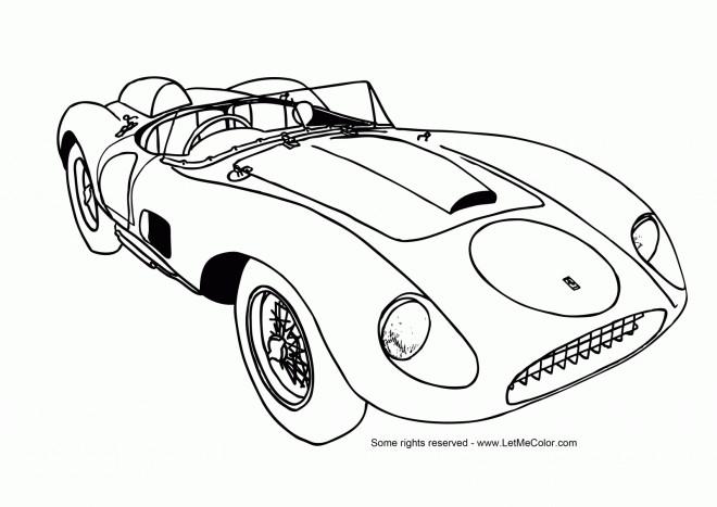 Coloriage et dessins gratuits Automobile classique cabriolet à imprimer