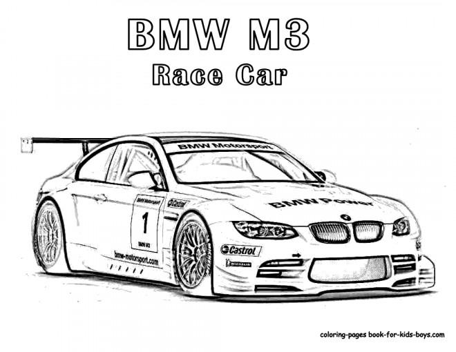 Coloriage et dessins gratuits Automobile de course BMW à imprimer