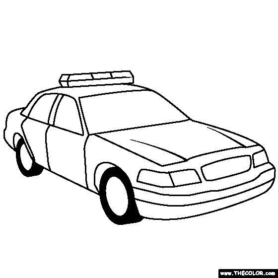 Coloriage Automobile De Police Facile Dessin Gratuit à Imprimer