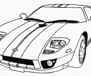 Coloriage et dessins gratuit Automobile de sport en ligne à imprimer