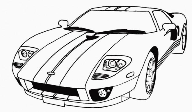 Coloriage et dessins gratuits Automobile de sport en ligne à imprimer