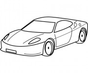 Coloriage et dessins gratuit Automobile Ferrari à imprimer