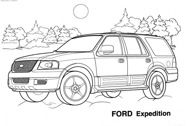 Coloriage et dessins gratuits Automobile Ford Expedition à imprimer