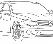 Coloriage Automobile Mercedes