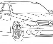 Coloriage et dessins gratuit Automobile Mercedes à imprimer