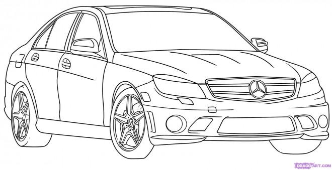 Coloriage et dessins gratuits Automobile Mercedes à imprimer