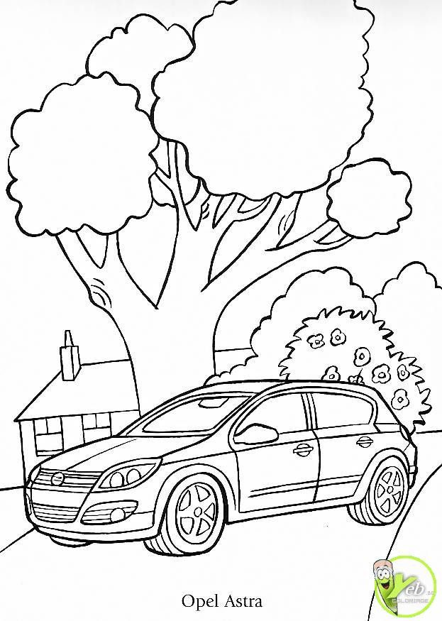 Coloriage et dessins gratuits Automobile Opel Astra à imprimer