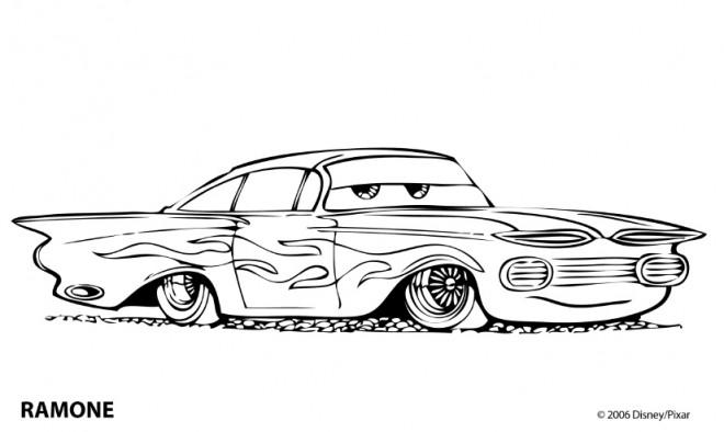 Coloriage et dessins gratuits Automobile Ramone Disney à imprimer