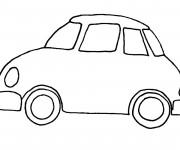 Coloriage et dessins gratuit Automobile simple à imprimer