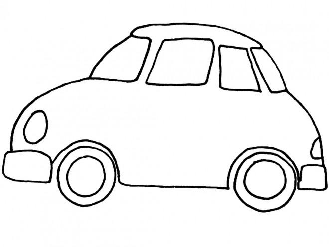 Coloriage et dessins gratuits Automobile simple à imprimer