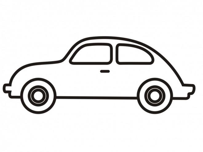 Coloriage et dessins gratuits Automobile vecteur à imprimer