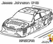 Coloriage et dessins gratuit Dessin voiture de course de Nascar à imprimer