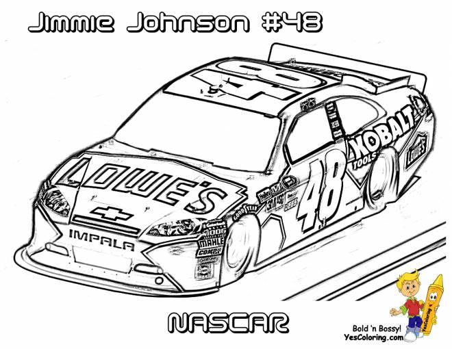 Coloriage et dessins gratuits Dessin voiture de course de Nascar à imprimer