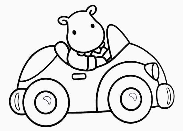 Coloriage jouet automobile pour enfant dessin gratuit imprimer - Coloriage voiture enfant ...