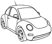Coloriage et dessins gratuit Petit Automobile Volkswagen à imprimer